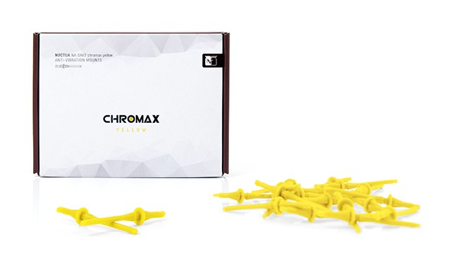 【ウインターセール】 Noctua NA-SAV2 chromax.yellow