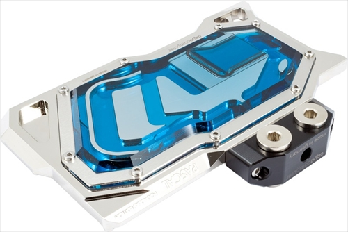 aquacomputer kryographics Pascal for GTX 1080 and 1070 acrylic glass edition, nickel plated version
