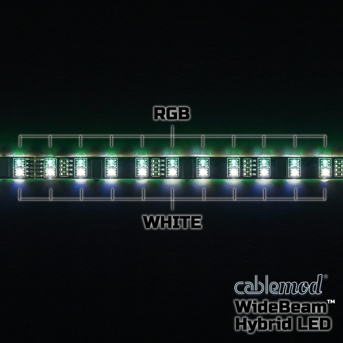 CableMod WideBeam Hybrid LED Strip 60cm - RGB/W (CM-LED-60-D60RGBW-R)