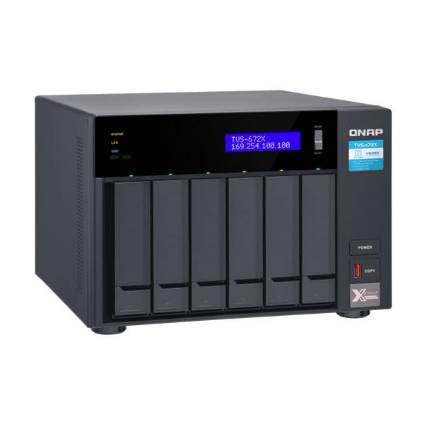 QNAP TVS-672X-i3-8G 10GbE 2.5/3.5インチ 6台搭載可能