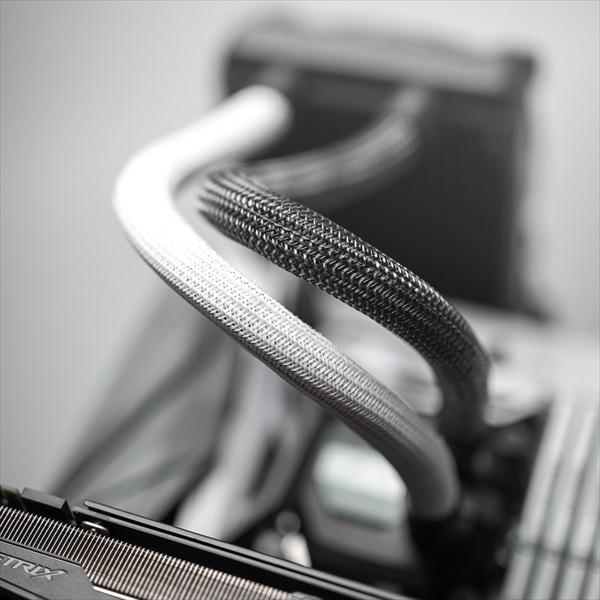 CableMod AIO Sleeving Kit Series 2 for EVGA CLC / NZXT Kraken - CARBON (CM-ASK-S2KC-R)