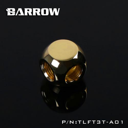 BARROW Metalic Cube Tee - 3Way Gold