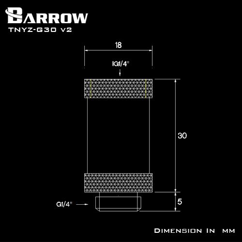 BARROW Male to Female Extender - 30mm White