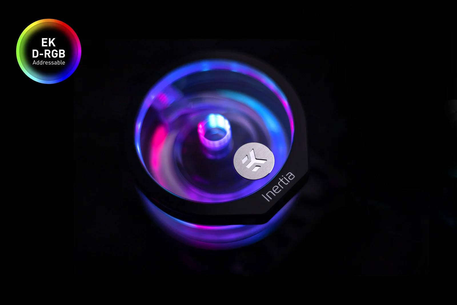 EK WaterBlocks EK-Quantum Inertia D5 PWM D-RGB - Plexi