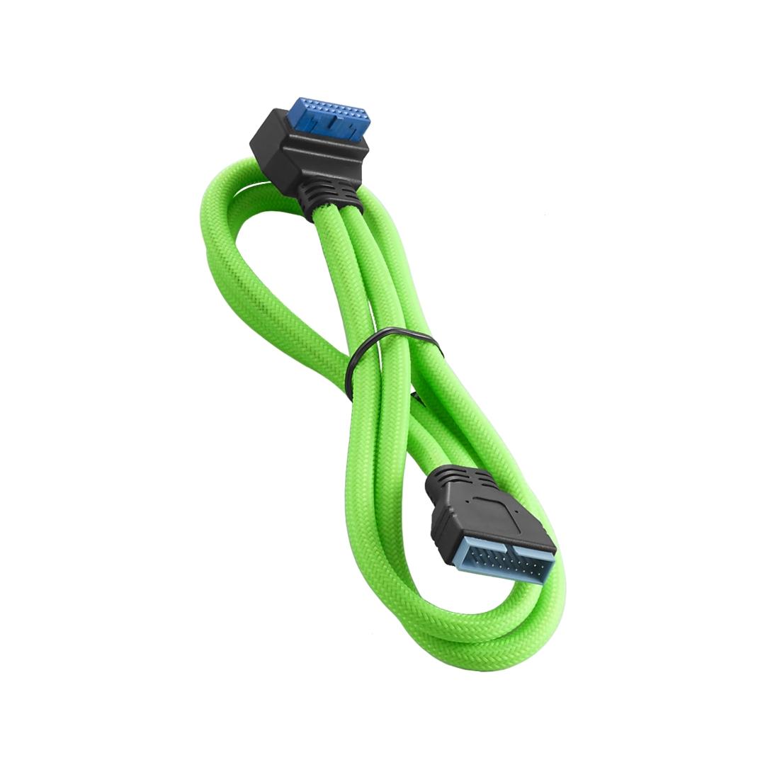 CableMod ModMesh Right Angle Internal USB 3.0 50cm - Light Green (CM-CAB-RIU3-N50KLG-R)