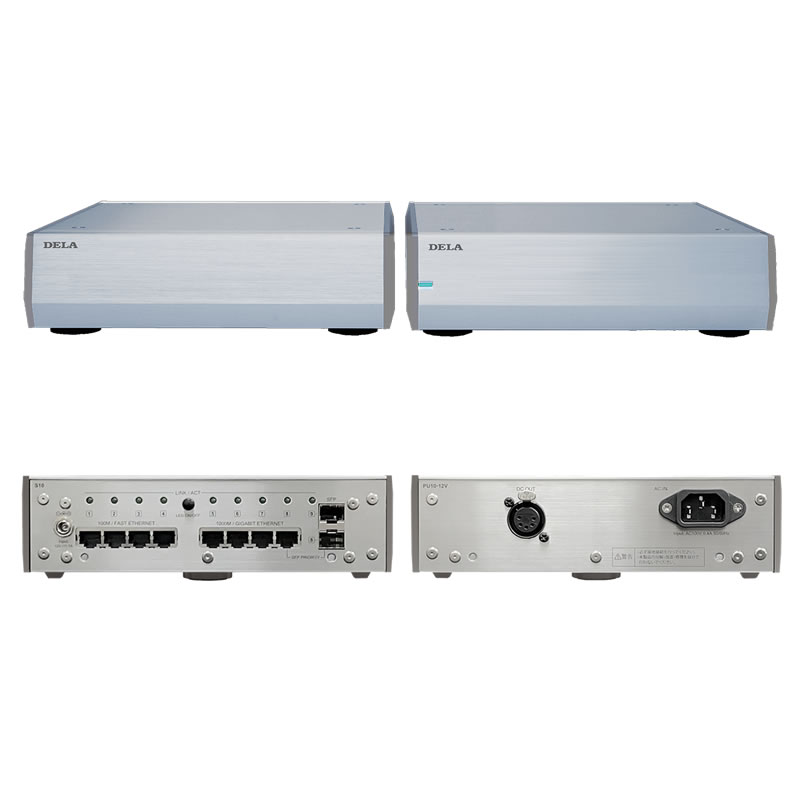 DELA S10P-J  オーディオ用ネットワークスイッチ (生産台数限定モデル)