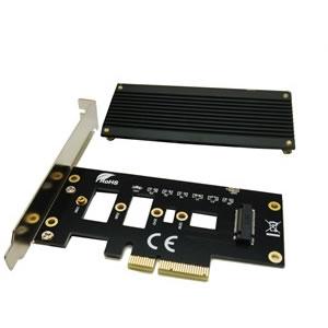 ST-M2PCE4XB M.2 SSD用ヒートシンク付PCI-E変換ボード
