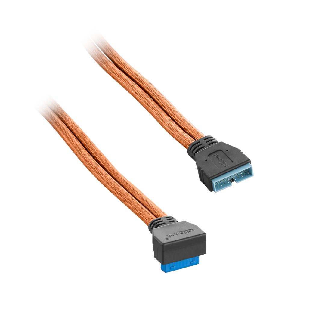 CableMod ModFlex Right Angle Internal USB 3.0 50cm - Orange (CM-CAB-RIU3-50KO-R)