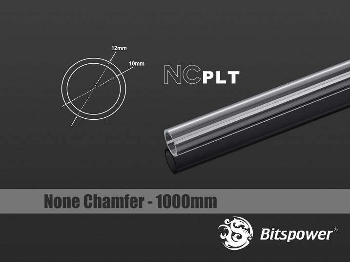 Bitspower None Chamfer PETG Link Tube OD12MM-Length 1000MM