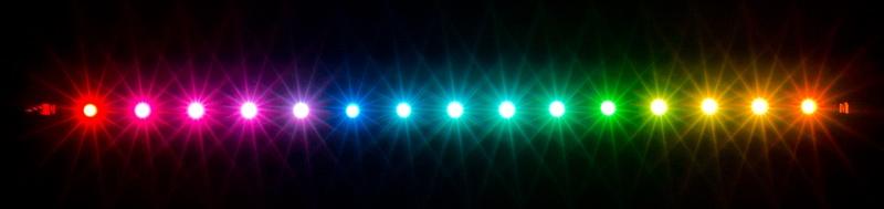 aquacomputer RGBpx LED strip 27.3 cm, width 5 mm, 15 addressable LEDs
