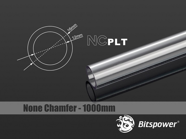 Bitspower None Chamfer PETG Link Tube OD16MM-Length 1000MM