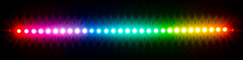 aquacomputer RGBpx LED strip 27.3 cm, width 5 mm, 30 addressable LEDs