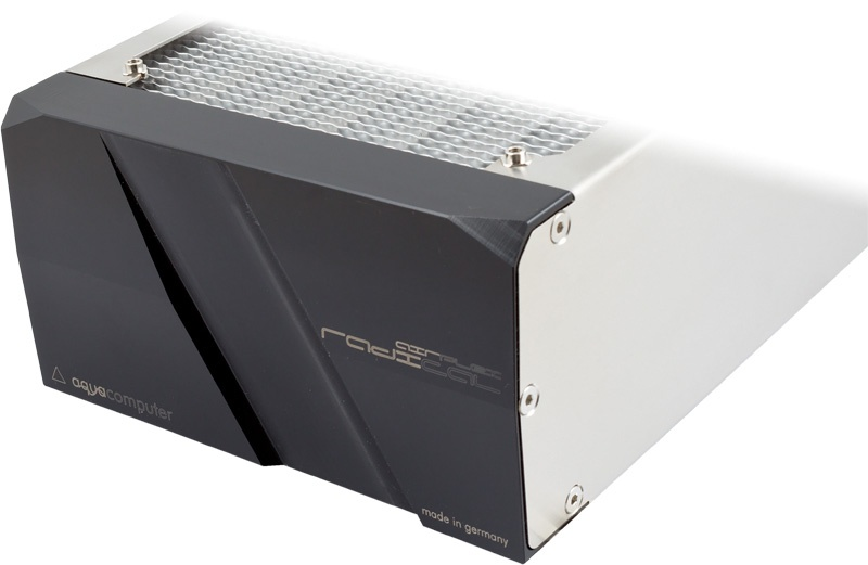 aquacomputer airplex radical 4/360, aluminum fins
