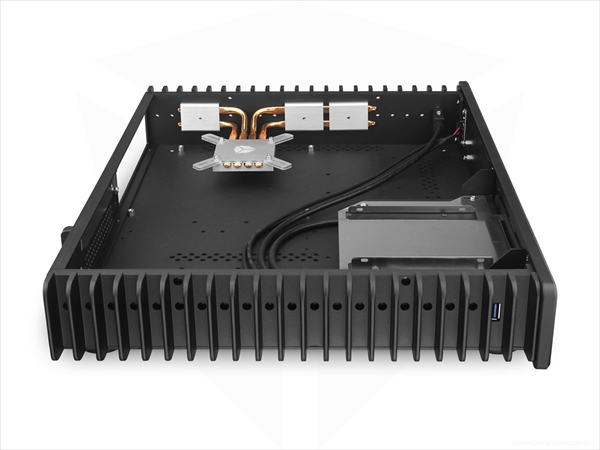 STREACOM FC5 Alpha Fanless Chassis -With Optical Slot- ブラック (ST-FC5B-OPT-ALPHA)