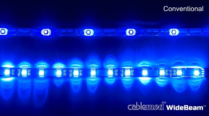 CableMod WideBeam Magnetic LED Strip - 60cm - BLUE (CM-LED-30-M60KB-R)