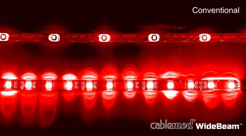 CableMod WideBeam Magnetic LED Strip - 60cm - RED (CM-LED-30-M60KR-R)