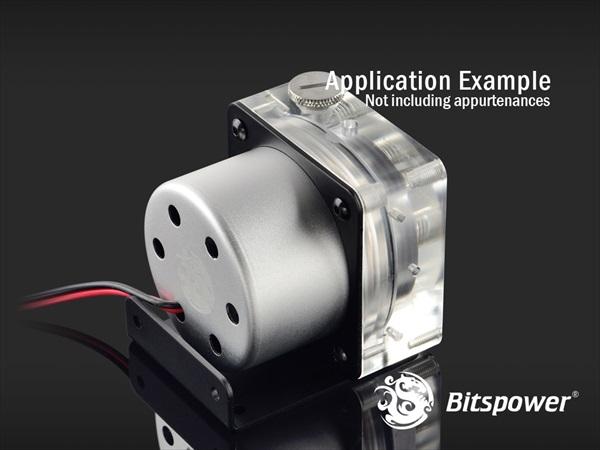 "Bitspower Premium D5 MOD Top G1/4"" (Abrasive Silver / Acrylic Version)"