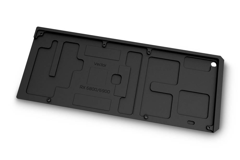 EK WaterBlocks EK-Quantum Vector RX 6800/6900 Backplate - Black