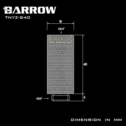 BARROW Male to Female Extender - 40mm Shiny silver