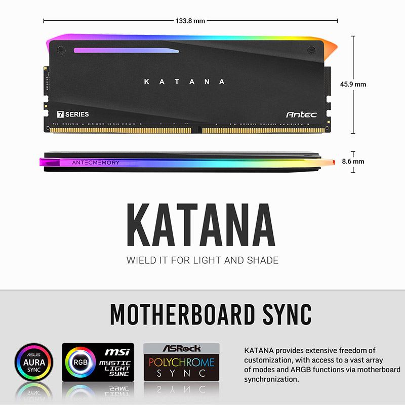 【取寄せ商品:要納期確認】 Antec KATANA DDR4 3200MHz 8GBx2 (AM4U32168G11-7DKR)