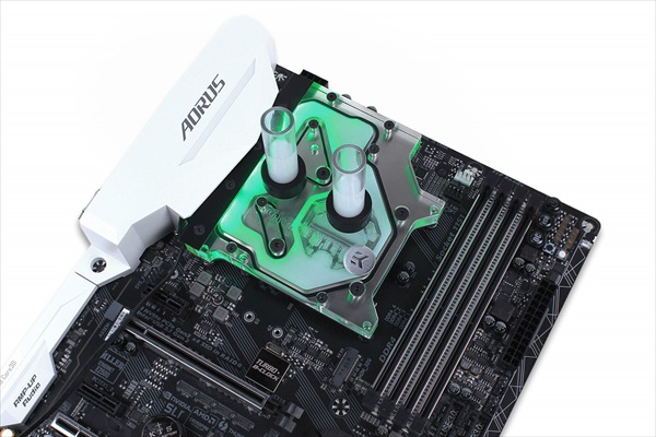 【ウインターセール】EK Water Blocks EK-FB GA Z270/Z370 GAMING RGB Monoblock - Nickel