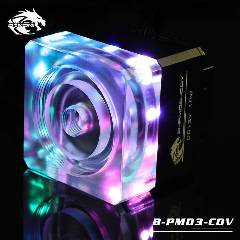 Bykski B-PMD3-COV Black Luminous Water Pump DDC Pump Head 6m Flow 600L/H