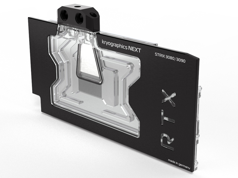 aquacomputer kryographics NEXT RTX 3080 Strix / RTX 3090 Strix, nickel plated version