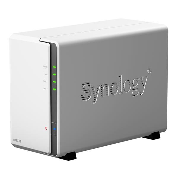 Synology DiskStation DS220j 3.5インチHDD2台搭載可能