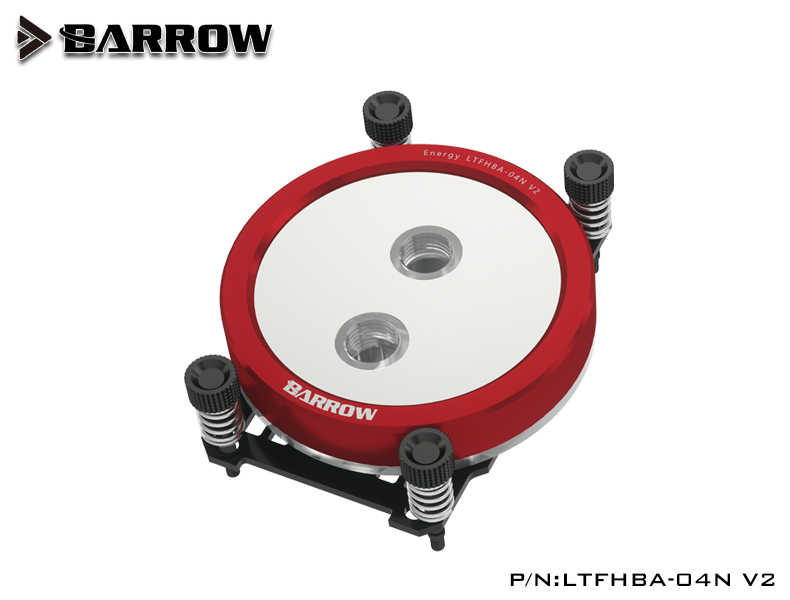 BARROW Jetting type micro waterway CPU block (Supreme Edition) for AMD platform Black bracket +blood red