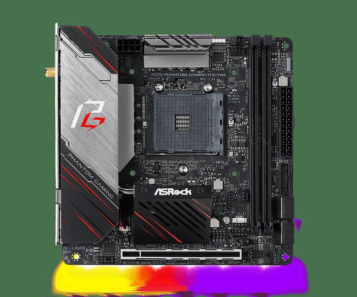 【お取寄せ商品: 通常納期3〜4営業日】 ASRock X570 Phantom Gaming-ITX/TB3