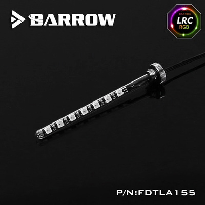 Barrow Composite version of multicolor T Virus Reservoir 155MM White spiral + classic black top cover w/LED