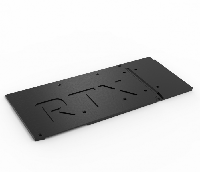 aquacomputer Back plate for kryographics NEXT RTX 3080 Extended / RTX 3090 Extended, active XCS