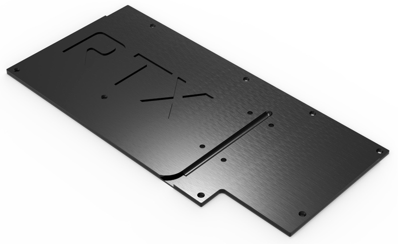 aquacomputer Back plate for kryographics NEXT RTX 3080 Strix / RTX 3090 Strix, active XCS