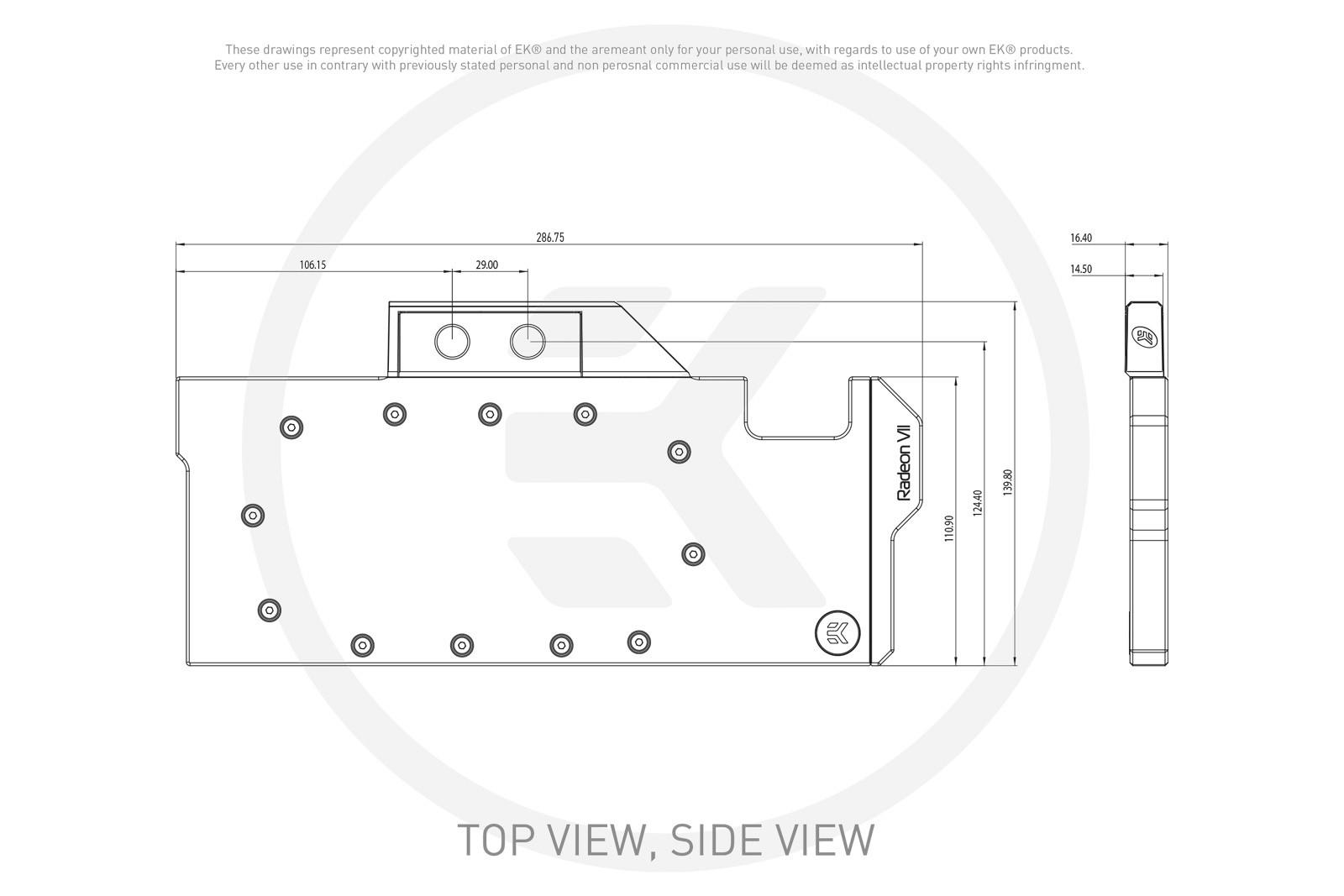 EK WaterBlocks EK-Vector Radeon VII Backplate - Black