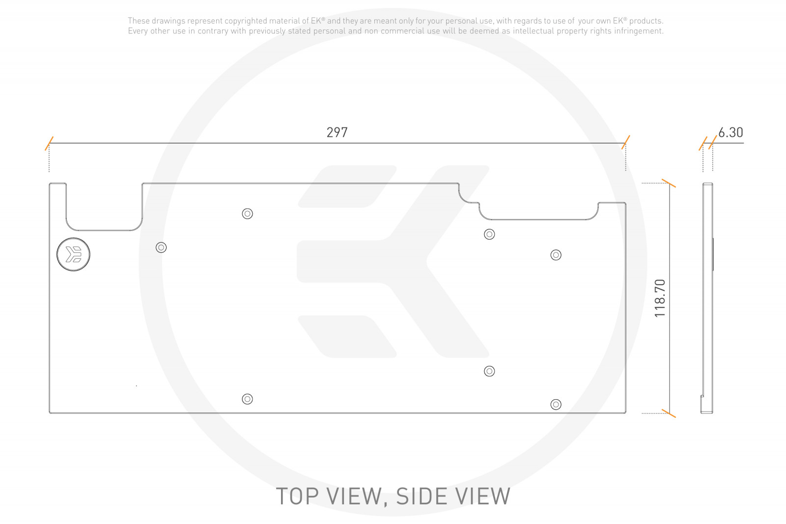 EK WaterBlocks EK-Vector Aorus RTX 2080 Ti Backplate - Black