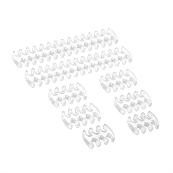 【特価】CableMod CM-Series ModFlex Basic Cable Comb Kit - Transparent (CM-COM-BKIT-CMVC-R)