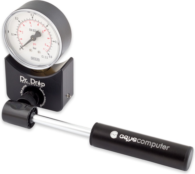 aquacomputer Dr. Drop PROFESSIONAL pressure tester incl. air pump