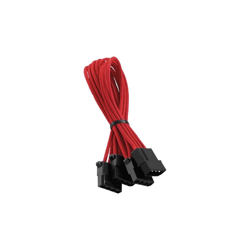 CableMod ModFlex Molex to 3 x Molex Adapter 30cm - RED (CM-CAB-M3M-60KR-R)