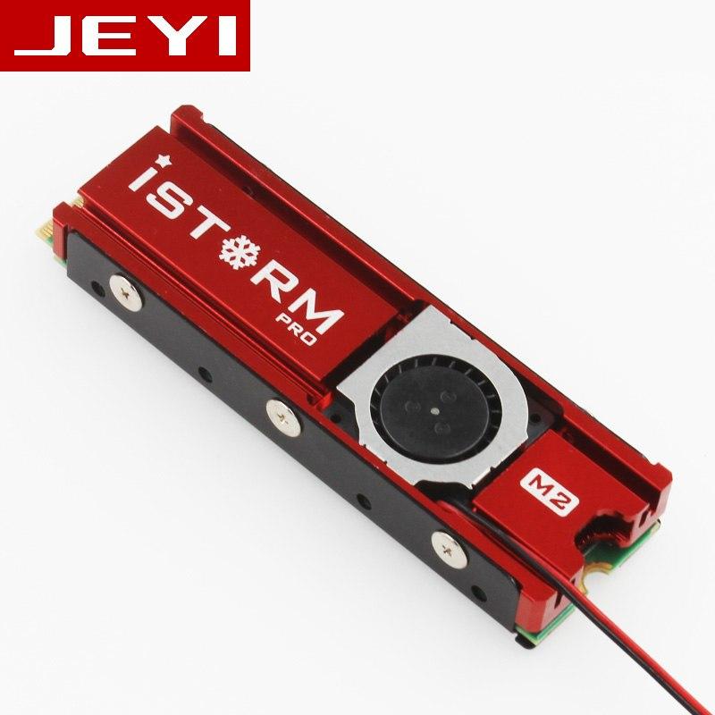 JEYI Cooling Warship Fan NVME NGFF M. 2 Heatsink 2280 SSD - RED