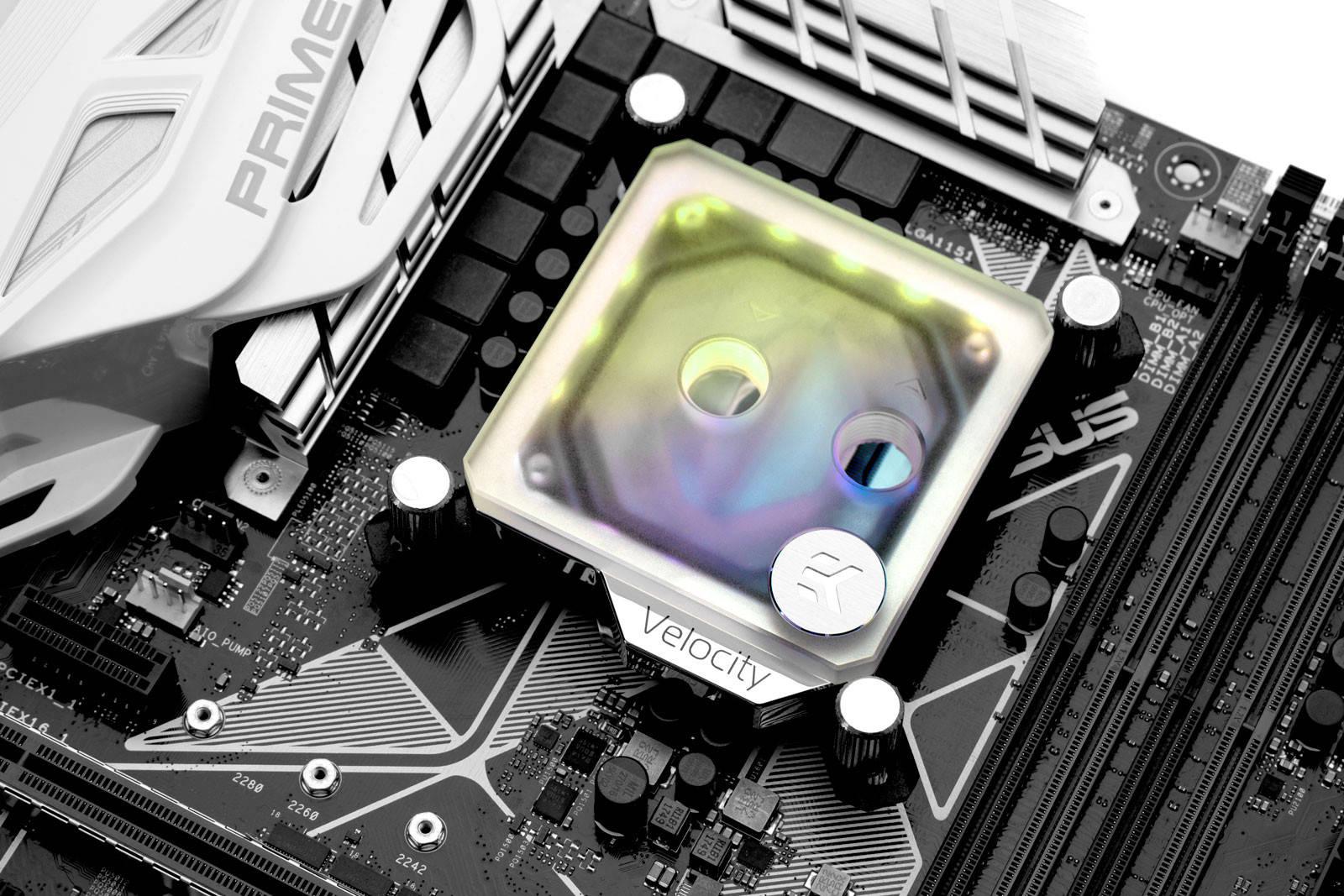 EK WaterBlocks EK-Quantum Velocity D-RGB - Nickel + Frosted Plexi