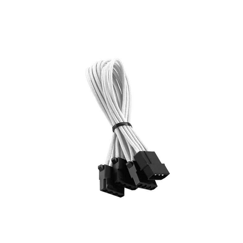 CableMod ModFlex Molex to 3 x Molex Adapter 30cm - WHITE (CM-CAB-M3M-60KW-R)