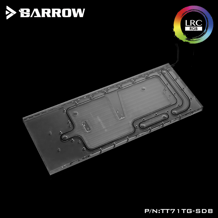 BARROW LRC 2.0 waterway plate for Tt View 71 TG/TG RGB case