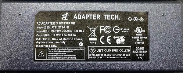 Adapter Technology 「ATS120TS-P120」 108W GaN Series AC Adapter