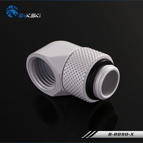 Bykski B-RD90-X Fine 90 degree rotating elbow Water cooling and cooling Rotary joint white
