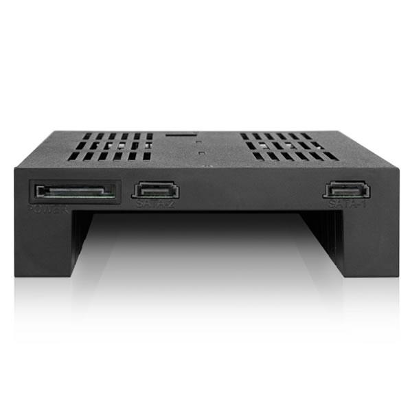ICYDOCK MB322SP-B 2.5インチHDD2台+3.5″ 5″ベイ用