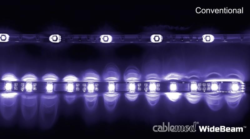 CableMod WideBeam Magnetic LED Strip - 30cm - UV (CM-LED-15-M30KUV-R)