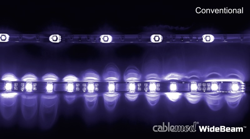 CableMod WideBeam Magnetic LED Strip - 60cm - UV (CM-LED-30-M60KUV-R)