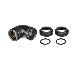 Thermaltake Pacific PETG Tube 90-Degree dual compression 12mm OD Black (CL-W145-CU00BL-A)