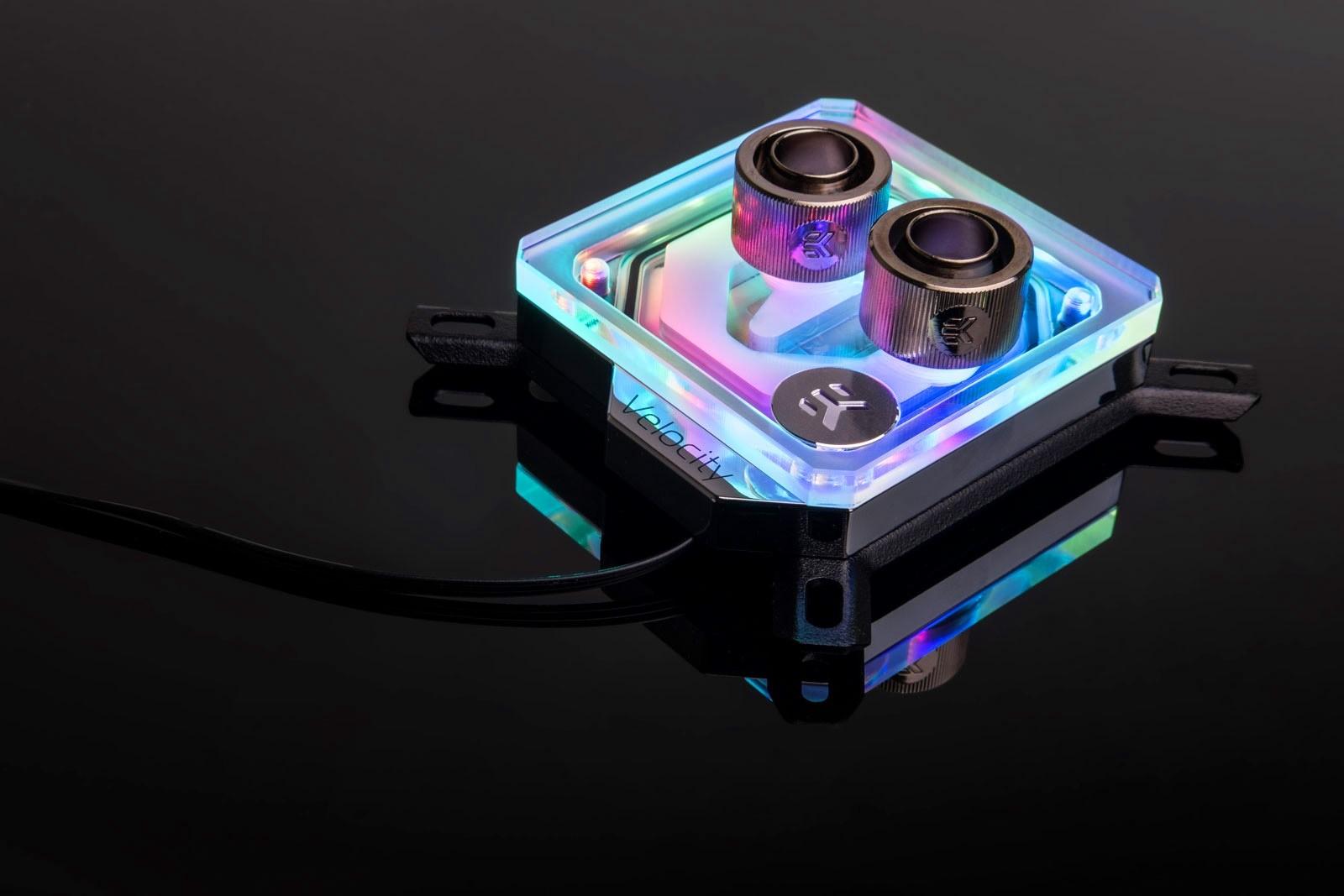 EK WaterBlocks EK-Quantum Velocity D-RGB - Nickel + Plexi