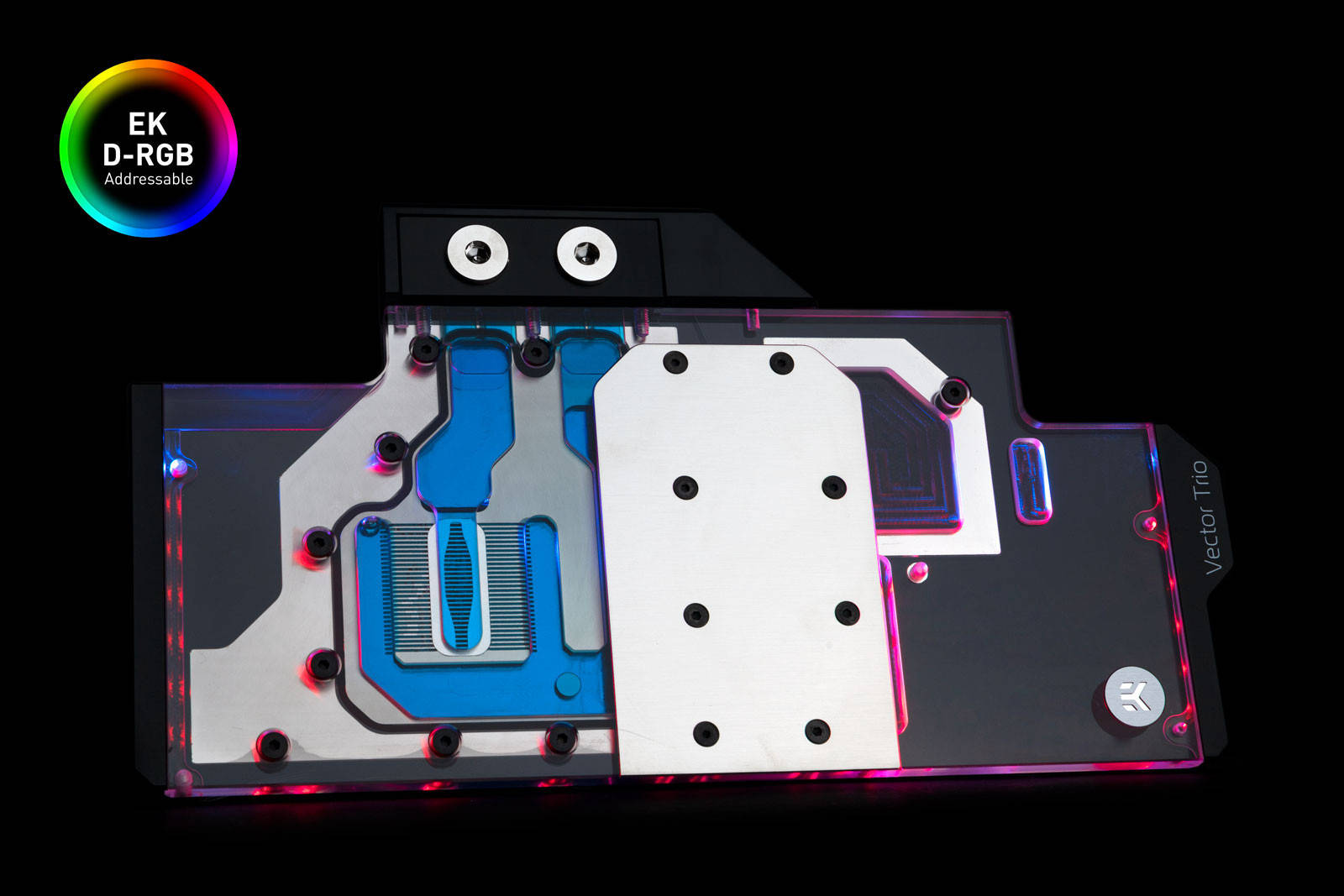 EK WaterBlocks EK-Quantum Vector Trio RTX 2080 D-RGB - Nickel + Plexi